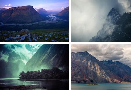 عکس های فوق العاده زیبا از قله های کوه